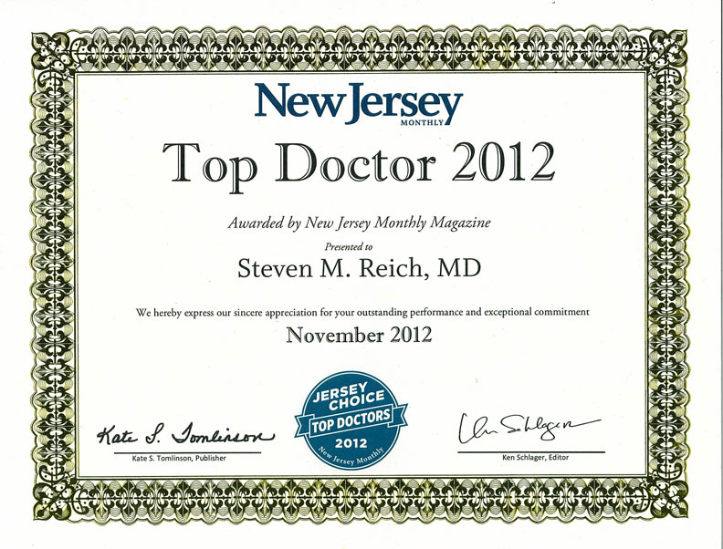 2012 Top Doctor - Reich